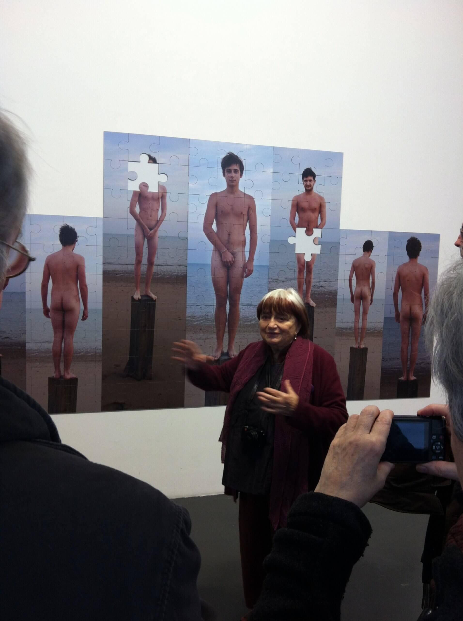 Visite aux cotés d'Agnès Varda à l'occasion de son exposition
