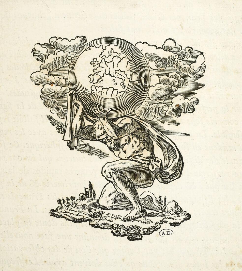 Atlas portant le monde