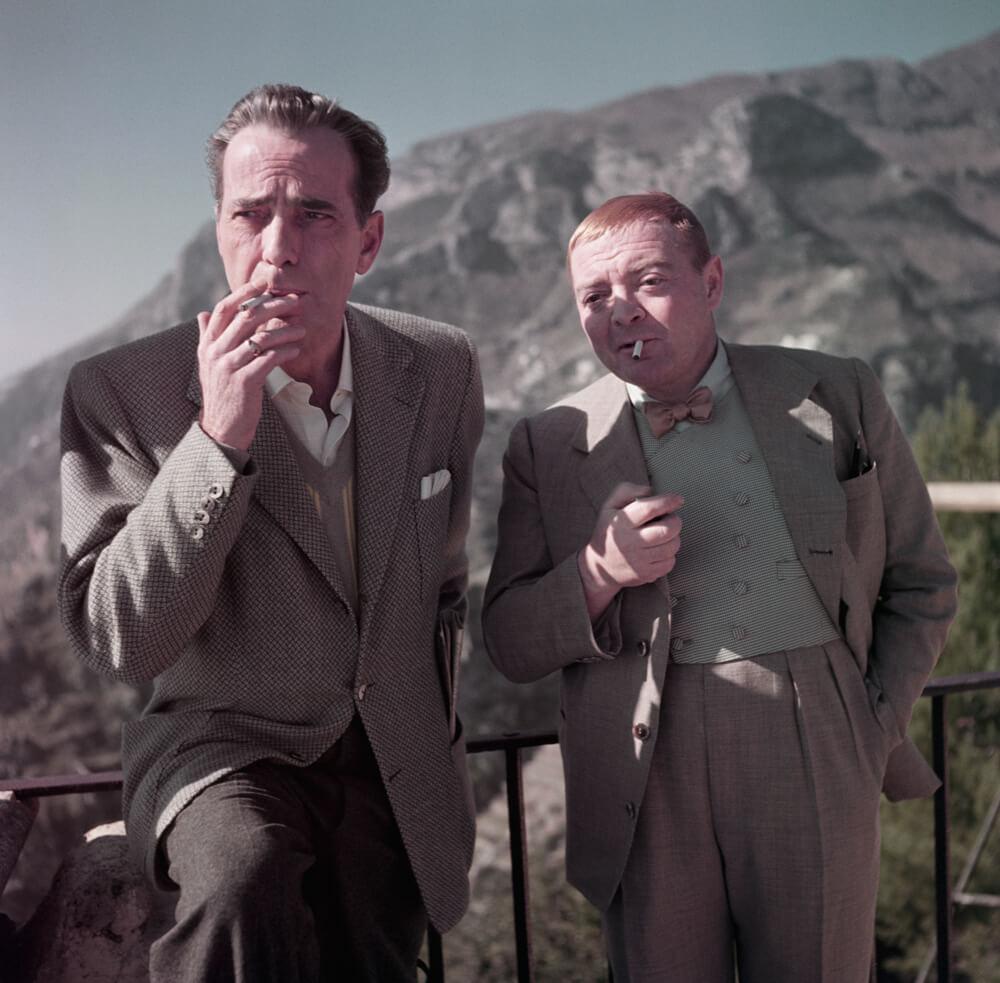 Humphrey Bogart et Peter Lorre sur le plateau de