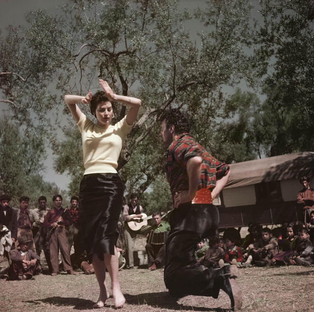 Ava Gardner sur le plateau de