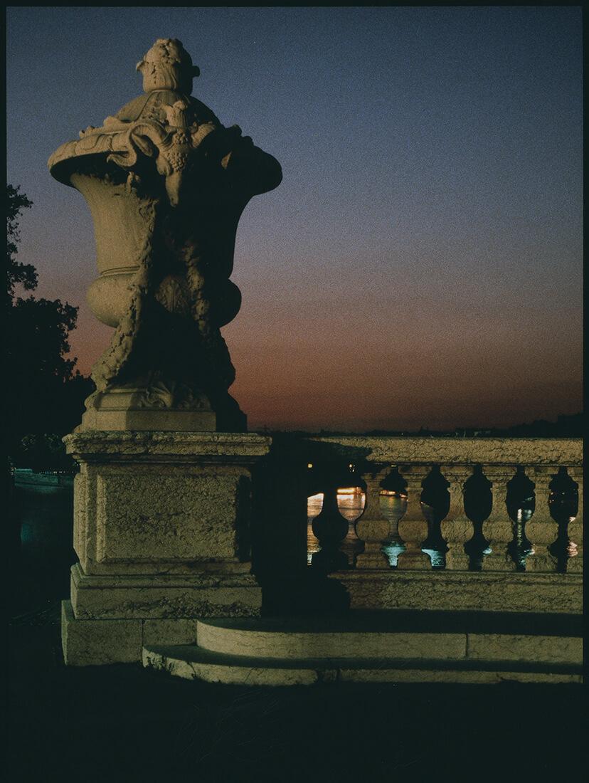 Vue au crépuscule du Pont Alexandre III