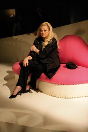 Anita Ekberg pendant la performance