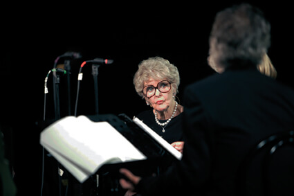 Elaine Stritch pendant la performance