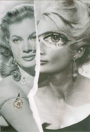 Portrait surréaliste d'Anita Ekberg (avant et après La Dolce Vita)