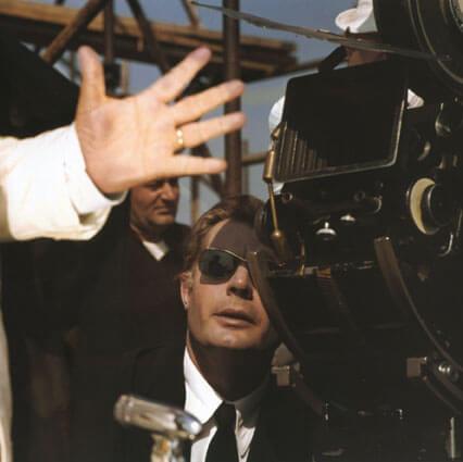Marcello Mastroianni sur le tournage de 8 ½