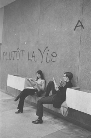 Grève des étudiants, université de Nanterre, près de Paris