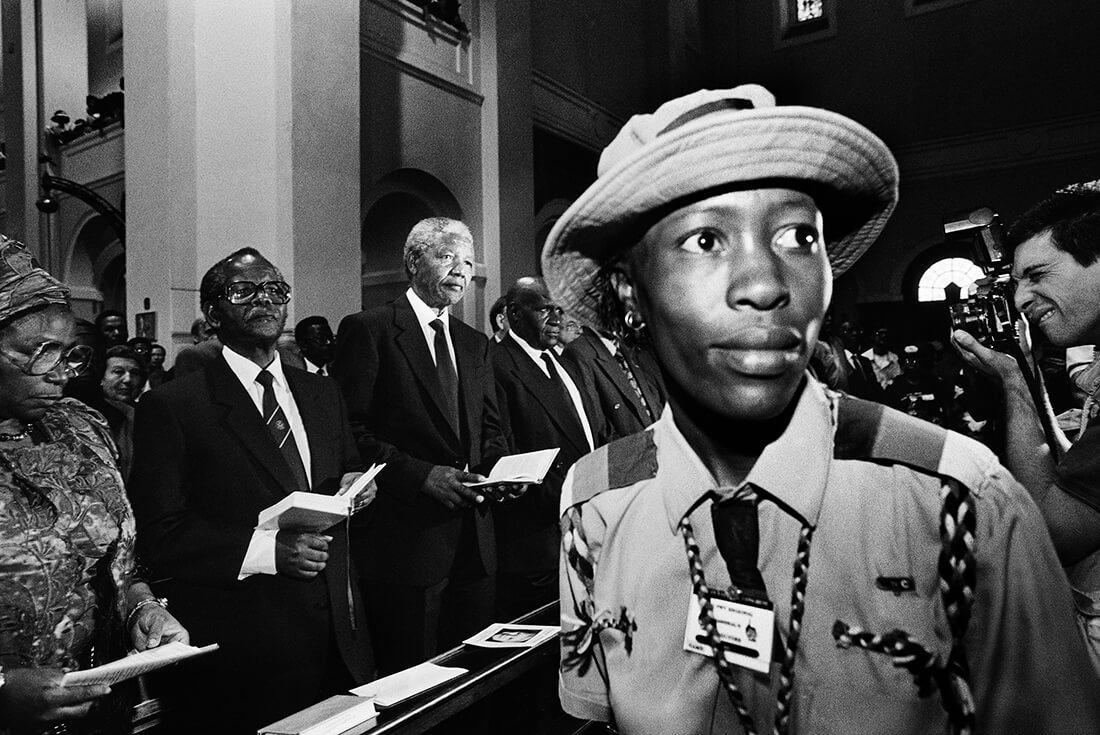Funérailles de l'activiste anti-apartheid Helen Joseph à la cathédrale de Johannesbourg, Afrique du Sud