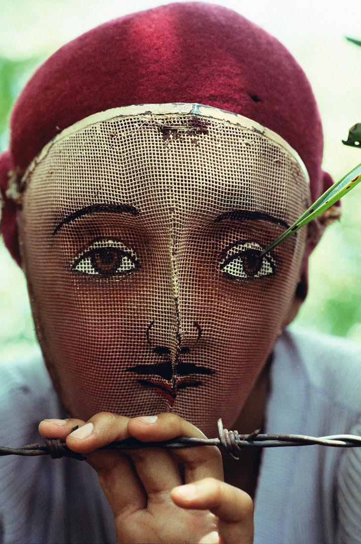 Masque traditionnel utilisé lors de l'insurrection populaire, Masaya, Nicaragua