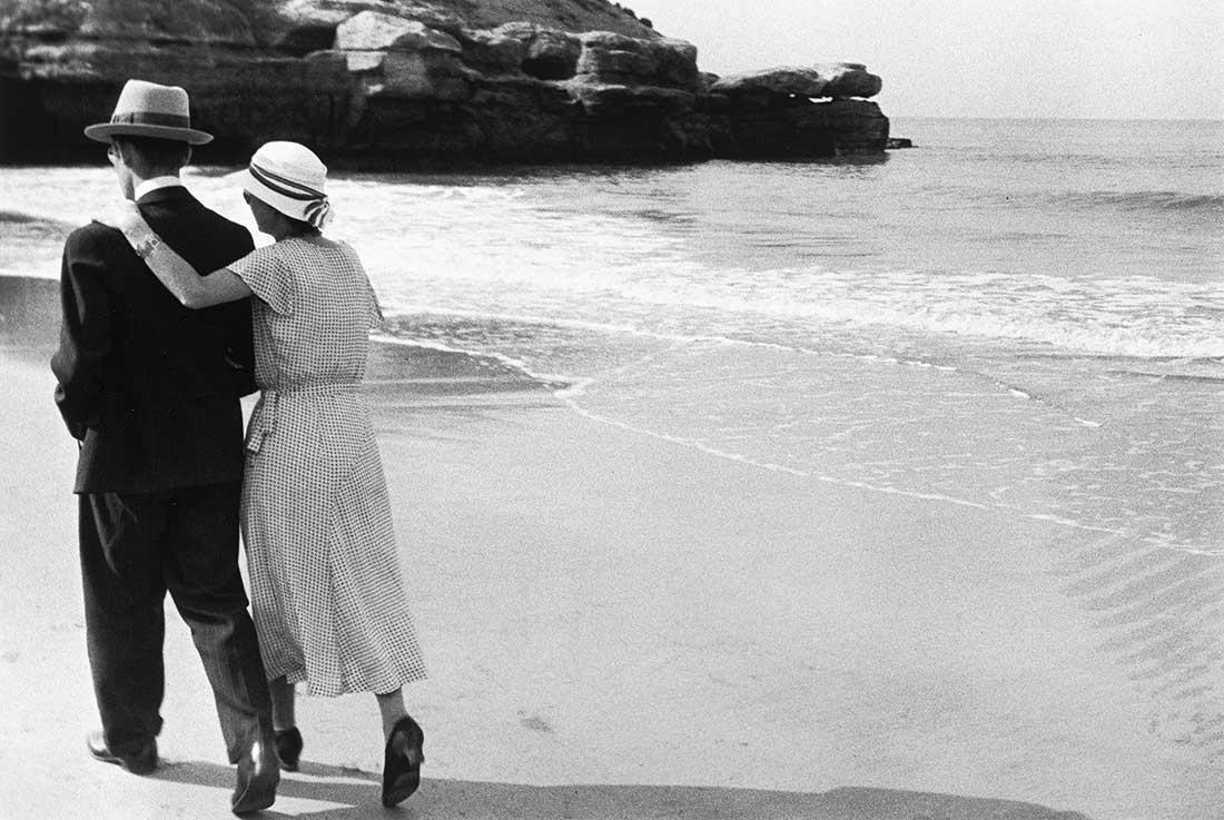 Couple sur la plage, Royan
