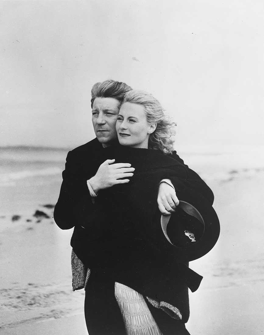 Michèle Morgan et Jean Gabin sur le tournage du film Remorques de Jean Grémillon