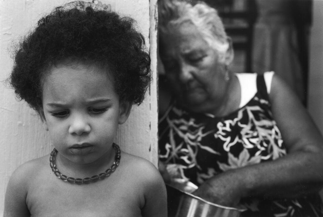 Vieille dame et enfant, Guadeloupe