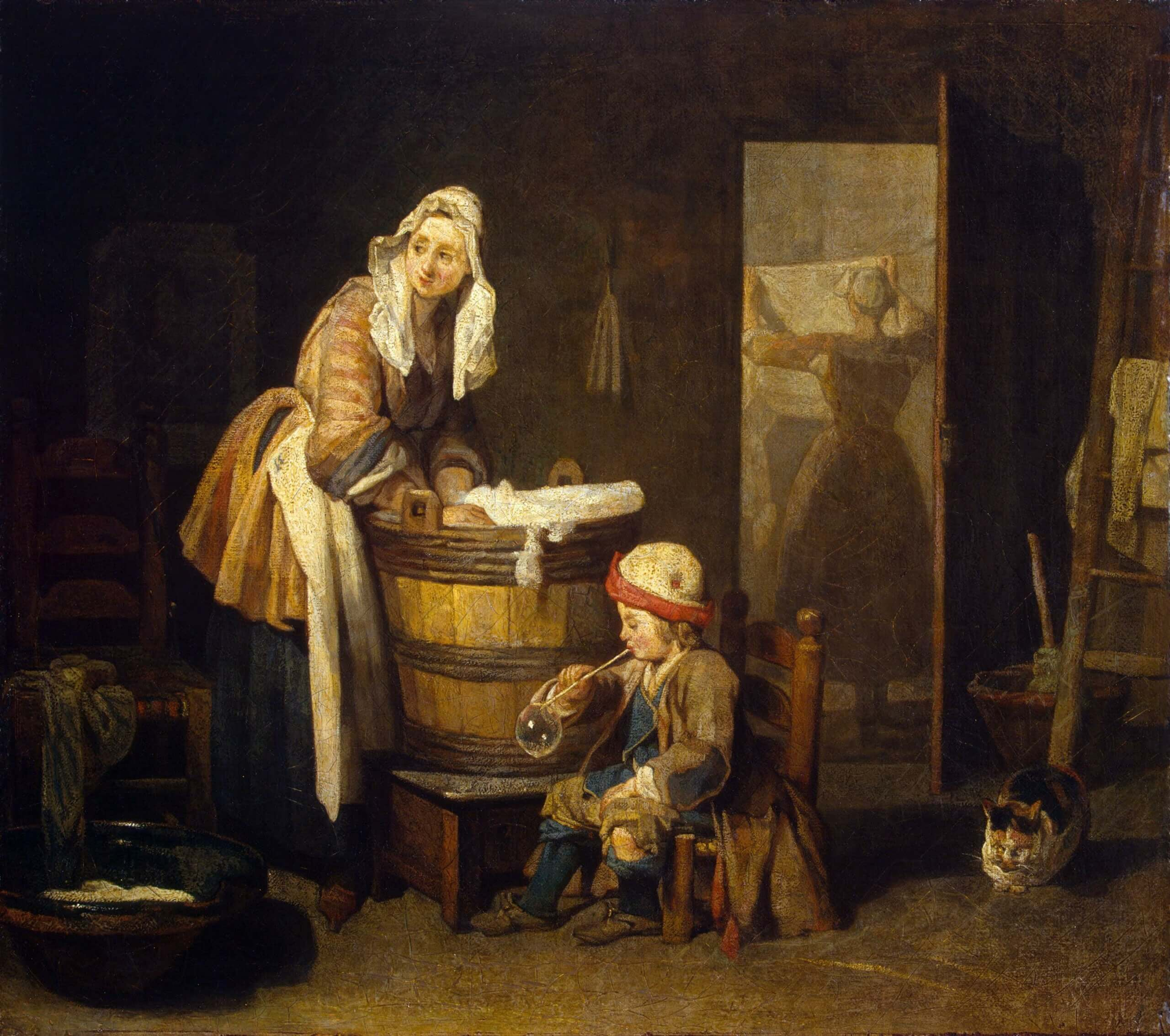 Jean Siméon Chardin, <i>The Laundress</i>, 1733, oil on canvas, 38 x 43 cm, The State Hermitage Museum