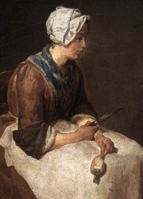 Jean Siméon Chardin, <i>The Turnip Scraper</i> (detail), 1738, Washington National Gallery of Art