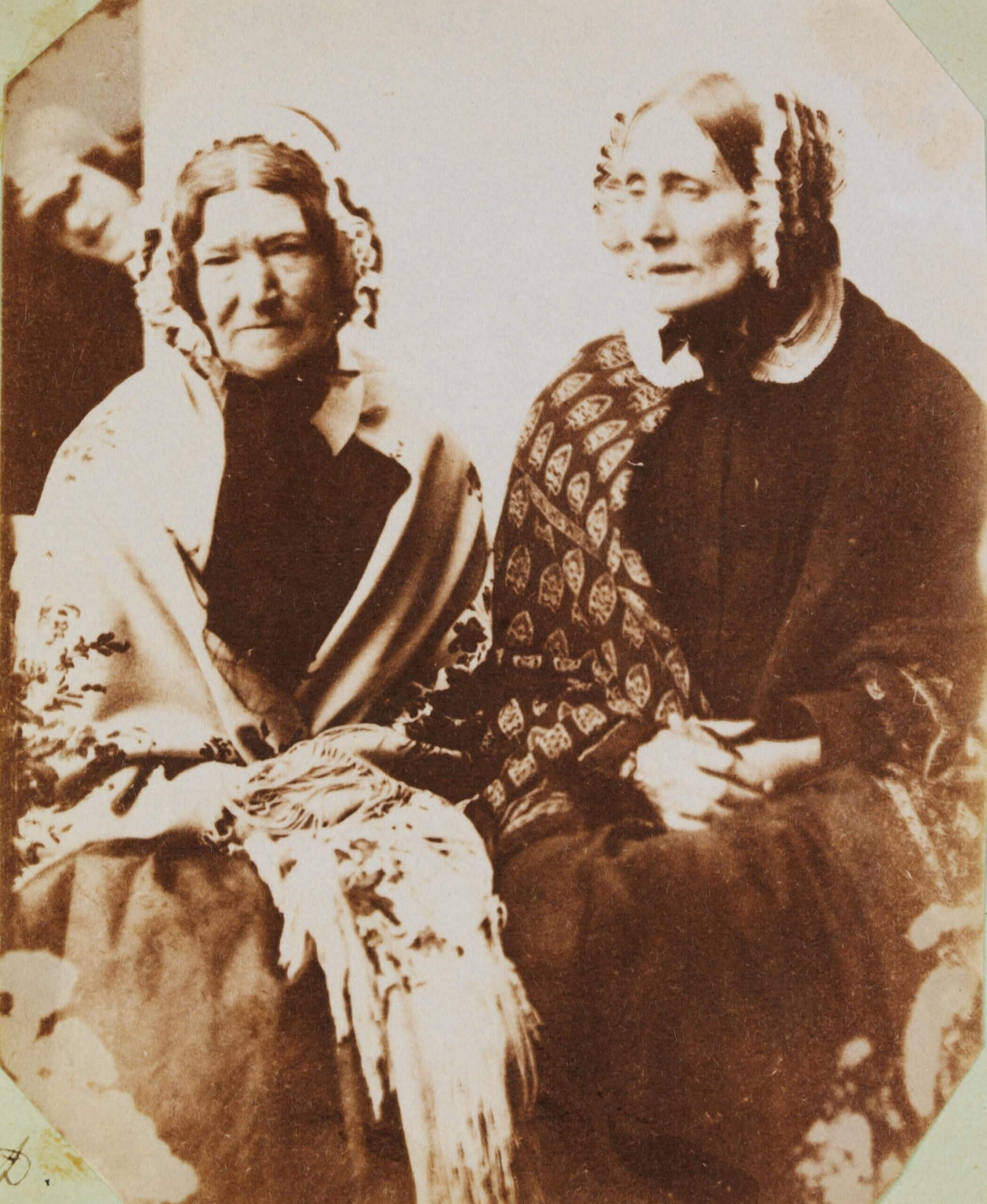 Mary Dillwyn (1816-1906), <i>Sally and Mrs Reed</i>, salt print, c.1853, The National Library of Wales